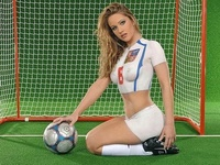 Painted World Cup Football Soccer Girl 13