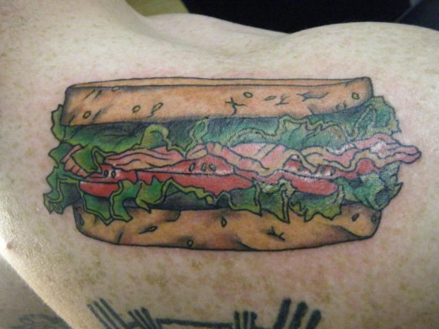Large Sandwich Tattoo