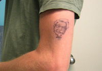 KFC Head Tattoo