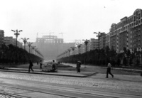 1 May 1986 - In construction, view from Unirii Boulevard - Palace of the Parliament (Casa Poporului)
