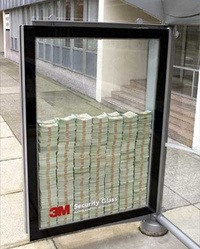 3M - money in security glass