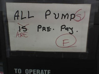 All pump(pumps) is(are) pre-pay. (F)