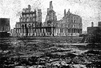 The ruins of the Grand Pacific Hotel after the Great Fire of 1871