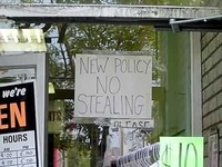 New policy: NO STEALING