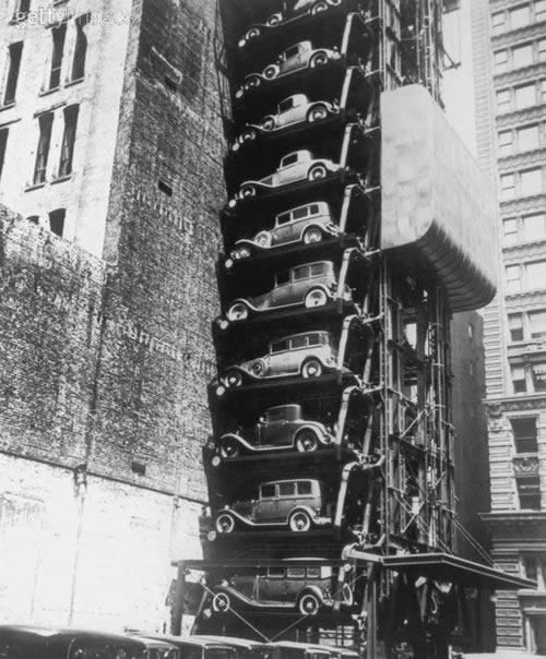 Old Time Vertical Parking System
