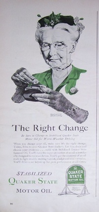 1942 - Quaker State Motor Oil - The Right Change