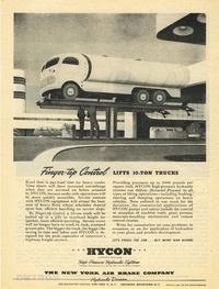 1945 - Hycon Hydraulic - Finger-Tip Control, Lifts 10-tons Trucks