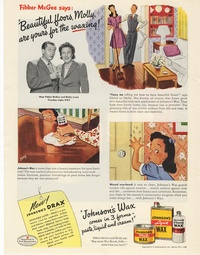 1945 - Johnsons Wax - Beautiful Floors, Molly, are Yours for the Waxing?