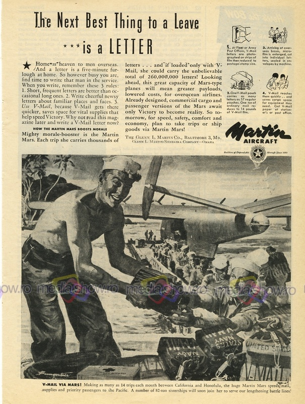 1945 - Martin Aircraft - The Next Best Thing to a Leave is a LETTER!