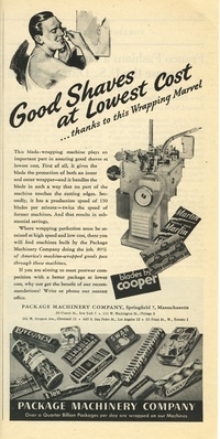 1945 - Package Machinery - Good Shaves at Lowest Cost
