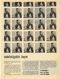 1945 - Philadelphia Bulletin - Indefatigable Buyer