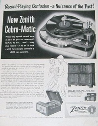 1950 - Zenith Record Player