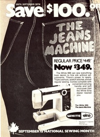 1982 - The Jeans Machine - White Sewing Machine