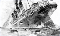 Picture of Lusitania Sinking