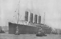 Lusitania in Port