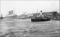 Lusitania in Liverpool, Landing stage