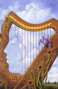 harp-with-face