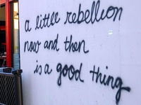 A little rebellion now and then is a good thing!