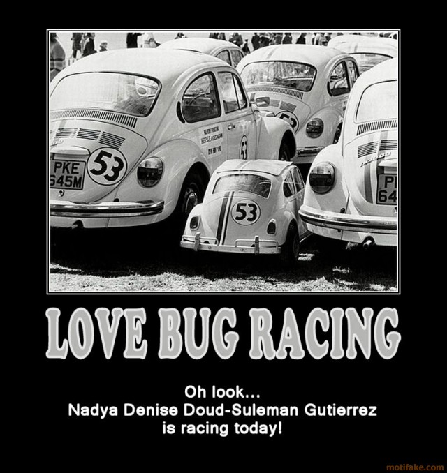 love-bug-racing-my-monies-on-the-lady-in-the-clown-car-demotivational-poster-1253205595