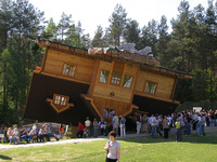 Upside Down House, Szymbark, Poland