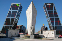 The Puerta de Europa towers, Madrid, Spain