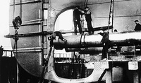 RMS Titanic's Propeller Shaft Installation