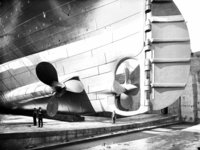 Back View of the Titanic Showing the Massive Propellers