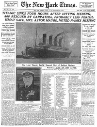 Titanic Sinks in New York Times