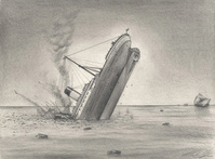 Drawing of Titanic Sinking