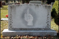 Tombstone Middle Finger
