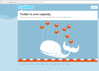Twitter is over capacity! PLEASE STOP OVERLOADING IT :P