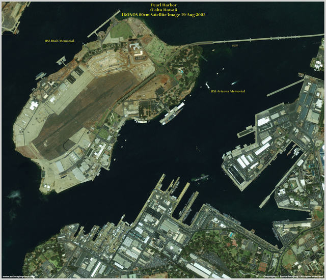 high resolution satellite view pearl harbor