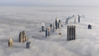 Cloudy Time From Burj Dubai