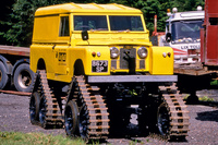 Land Rover with caterpillar tracks