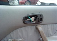 Using a fork as a door handle