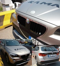 Poor BMW owner... he loves Alfa Romeo so much but do not have money to buy one!