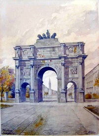 Arch of Triumph in Munich, Germany (1914)