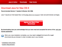 Download Java7 for MAC OS X