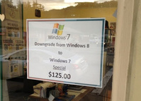Special Offer: Downgrade to Windows 7 for only $125!