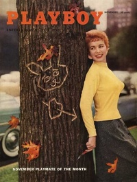 1955 - Playboy magazine cover of November