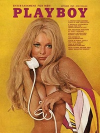 1969 - Playboy magazine cover of October