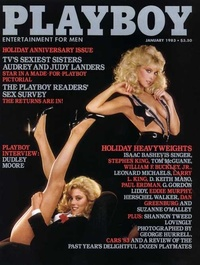 1983 - Playboy magazine cover of January