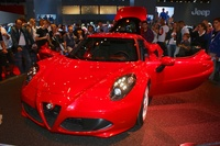 Alfa Romeo 4C red - frontal view