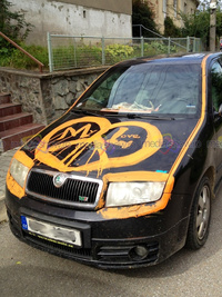 Skoda Fabia RS Painted in the name of love!
