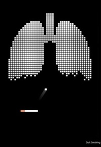 "Quit Smoking or ""bricks"" your lungs out"