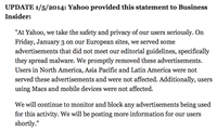 Yahoo advertisements who spread malware - Windows still vulnerable