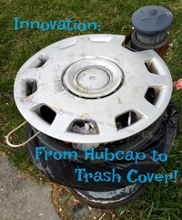 Innovation: From hubcap to trash cover!
