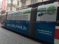 2013 - Embed-it - <check_it join_it work_it> - on a tram in Brno, CZ