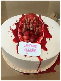 Welcome Hadie horrible cake