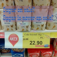 Sugar is never on sale!